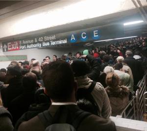 Jason Slesinski @JSlesinski Follow @NYCTSubway What could be more terrifying than being trapped underground? #nycsubway #A #C #E #timessquare