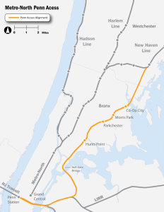 Proposed MetroNorth Penn Access Line